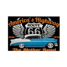 America's Highway 66 Rectangle Magnet
