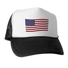 Waving American Flag Trucker Hat