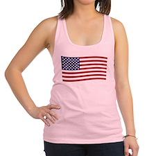 Waving American Flag Racerback Tank Top