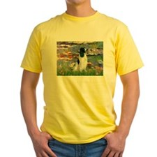 Monet's Lilies & English Spri Ash Grey T-Shirt