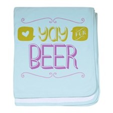 Yay for Beer baby blanket