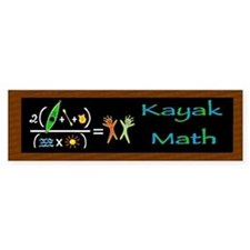 Kayak Math Bumper Sticker