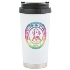 Vintage Washington Rainbow Travel Mug