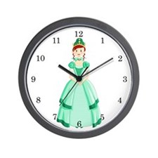 Green Princess Wall Clock