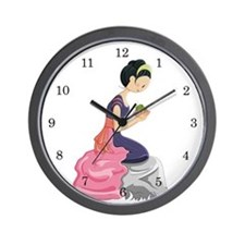 Frog Princess Wall Clock