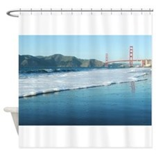 Golden Gate Bridge Sudsy Shoreline Shower Curtain
