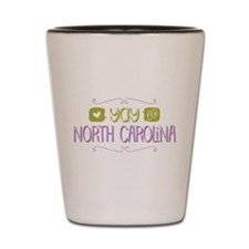 Yay for North Carolina Shot Glass