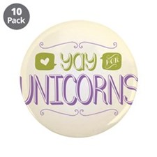 "Yay for Unicorns 3.5"" Button (10 pack)"
