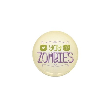 Yay for Zombies Mini Button (10 pack)