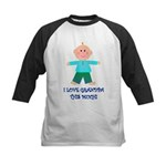 I LOVE GRANDPA BOY Kids Baseball Jersey