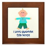 I LOVE GRANDPA BOY Framed Tile