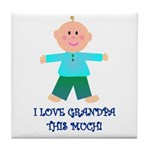 I LOVE GRANDPA BOY Tile Coaster