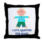 I LOVE GRANDPA BOY Throw Pillow