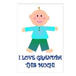 I LOVE GRANDPA BOY Postcards (Package of 8)