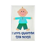 I LOVE GRANDPA BOY Rectangle Magnet (100 pack)