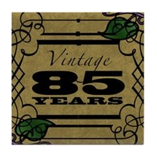 Vintage 85th Birthday (Gold) Tile Coaster