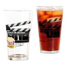 1st Birthday Hollywood Theme Drinking Glass