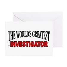 """""""The World's Greatest Investigator"""" Greeting Cards"""