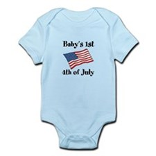 Baby.s 1st 4th of July Body Suit