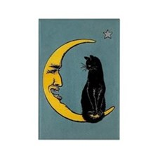 Black Cat, Moon, Vintage Poster Rectangle Magnet
