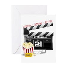 21st Movie Birthday Greeting Card