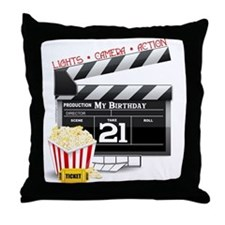 21st Movie Birthday Throw Pillow