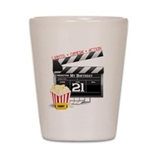 21st Movie Birthday Shot Glass