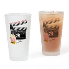 21st Movie Birthday Drinking Glass