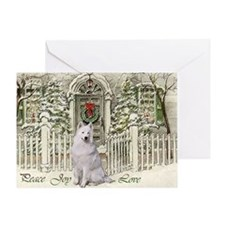 Samoyed Christmas Greeting Card