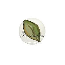 Personalizable Green Watercolor Leaf Mini Button (