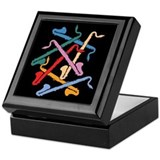 Colorful Bass Clarinets Keepsake Box