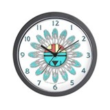 Hopi Style Sun Face Wall Clock