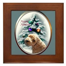 Schnoodle Christmas Framed Tile