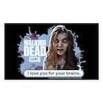 I Love Your Brains Sticker