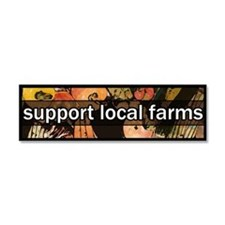 Cute Farm Car Magnet 10 x 3
