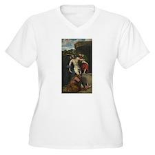 Moretto da Brescia - Pieta Plus Size T-Shirt