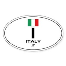 UN-Style Oval Automobile Sticker - Italy