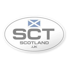 UN-Style Oval Automobile Sticker - Scotland