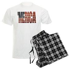 Vintage MERICA U.S. Flag Pajamas