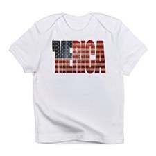 Vintage MERICA U.S. Flag Infant T-Shirt