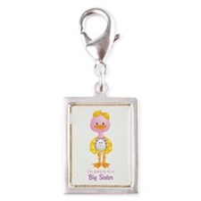 Big Sister to be -Ducky Silver Portrait Charm