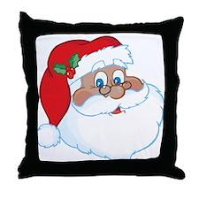 Afro American Santa Throw Pillow