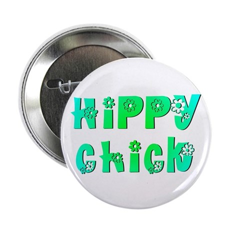"Hippy Chick 2.25"" Button (100 pack)"