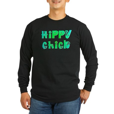Hippy Chick Long Sleeve Dark T-Shirt