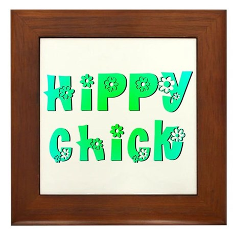 Hippy Chick Framed Tile