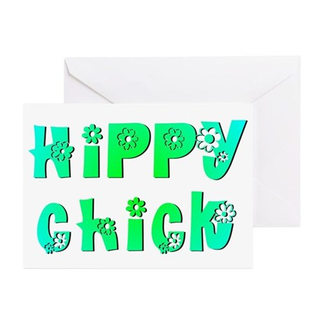 Hippy Chick Greeting Cards (Pk of 10)