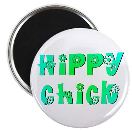 "Hippy Chick 2.25"" Magnet (100 pack)"
