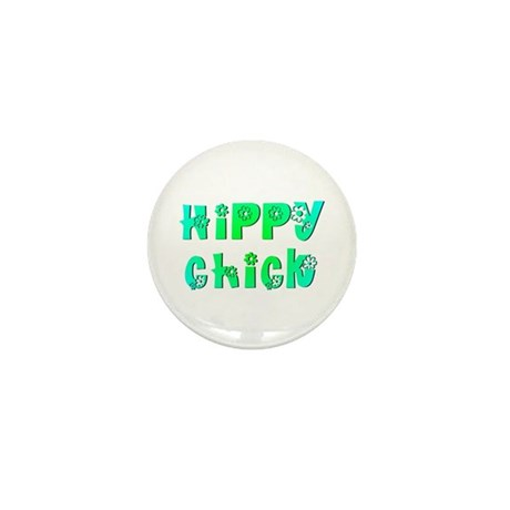 Hippy Chick Mini Button (100 pack)