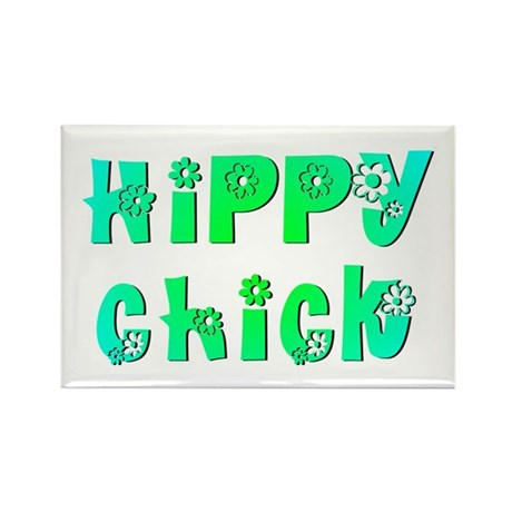 Hippy Chick Rectangle Magnet (100 pack)