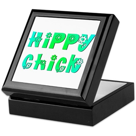 Hippy Chick Keepsake Box